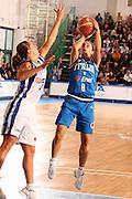 DESCRIZIONE : Chieti Italy Italia Eurobasket Women 2007 Grecia Italia Greece Italy <br /> GIOCATORE : Valeria Zanoli <br /> SQUADRA : Nazionale Italia Donne Femminile <br /> EVENTO : Eurobasket Women 2007 Campionati Europei Donne 2007<br /> GARA : Grecia Italia Greece Italy <br /> DATA : 25/09/2007 <br /> CATEGORIA : tiro<br /> SPORT : Pallacanestro <br /> AUTORE : Agenzia Ciamillo-Castoria/E.Castoria<br /> Galleria : Eurobasket Women 2007 <br /> Fotonotizia : Chieti Italy Italia Eurobasket Women 2007 Grecia Italia Greece Italy <br /> Predefinita :