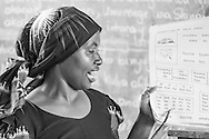 Photo Randy Vanderveen<br /> Musanze District, Rwanda<br /> 2015-05-27<br /> The teacher leads her class in reading.