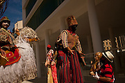 Artists perform Saint George saga in front of the newly opened MAR museum during celebrations of unofficial Rio de Janeiro's patron, Saint George, in Rio de Janeiro, Tuesday, April 23, 2013.  (Dado Galdieri)