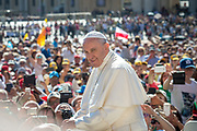 May 17, 2017: Pope Francis greets the crowd as he arrives for a weekly general audience at St Peter's square. Antoine Mekary | Aleteia | I.Media