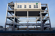 Evacuation towers built to help people escape from future tsunamis in Ishinomaki, Miyagi, Japan. Thursday March 10th 2016. This year marks the 5th anniversary of the Great East Japan Earthquake which struck at 2:46pm on March 11th 2011 levelling much of the Tohoku coast and causing the deaths of around 18,000 people.