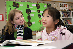 United States, Washington, Bellevue, girls at school