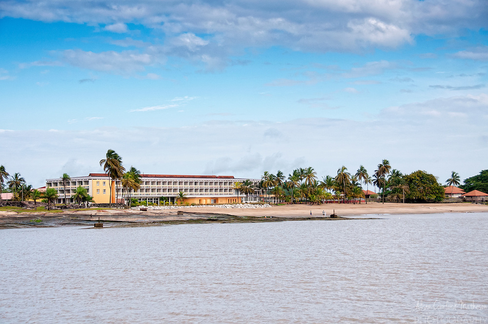 The Hotel des Roches on Pointe des Roches beach in Kourou, French Guiana