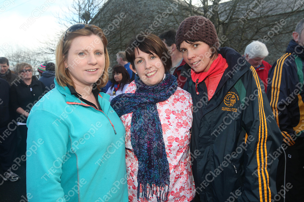 Asumpta Lillis, Caroline Crowley and Renea Downes pictured at the Labasheeda Walk on Sunday.<br /> Pic. Brian Arthur/ Press 22.