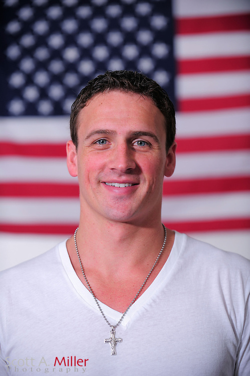 Portrait shoot with 11-time Olympic medalist Ryan Lochte. <br /> <br /> &copy;2012 Scott A. Miller