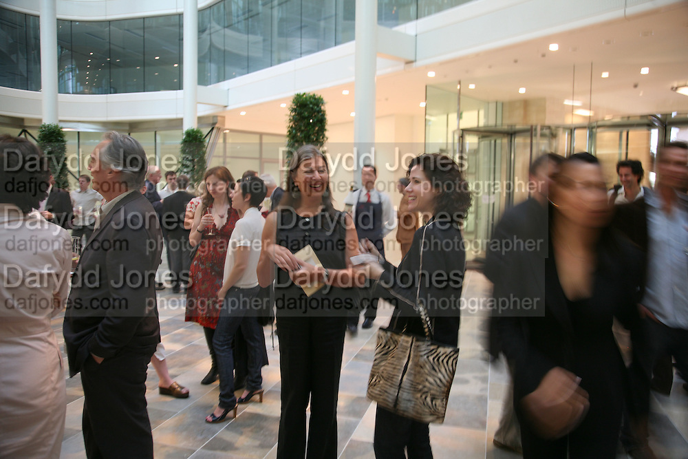 Victoria Miro and Mollie Dent-Brocklehurst, Space Trumpet- Conrad Shawcross. Hosted by Unilever, Anderson O'Day Fine Art and Victoria Miro. Unilever Building. 100 Victoria Embankment. 23 May 2007. <br />