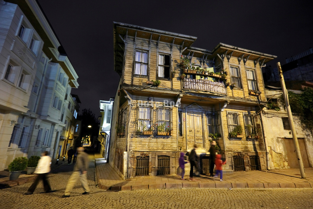 old and new style architecture in the old city district of Istanbul Turkey
