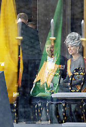October 22, 2019, JAPAN: 22-10-2019 Inhuldiging Enthronement ceremony of Emperor Naruhito of Japan in Tokyo..Queen Maxima and King Willem-Alexander at the Imperial Palace to attend the proclamation ceremony of Japans Emperor in Tokyo, Japan. (Credit Image: © face to face via ZUMA Press)