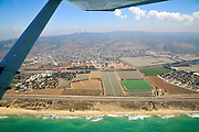 Aerial View of cultivated farmland mount Carmel in the background