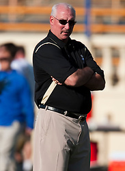 October 10, 2009; San Jose, CA, USA;  Idaho Vandals head coach Robb Akey before the game against the San Jose State Spartans at Spartan Stadium.
