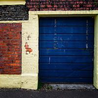 Derelict blue door