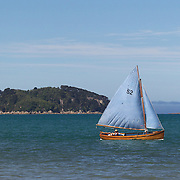 A boat on the water near Kaiteriteri, a beautiful seaside resort town in the Nelson region, set close to the Abel Tasman National Park, New Zealand, 3rd February 2011. Photo Tim Clayton