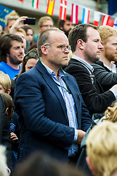 Pictured: Andy Wightman Greens MSP<br /> Thousands of people gathered outside the Scottish Parliament to demonstrate for Scotland to remain part of EU. Young and old gathered in support of the European Movement Edinburgh  whoorganised the event inthe wake of the vote to leave<br /> <br /> <br /> Ger Harley | EEm 29 June 2016