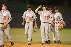 The defending National Champion Oregon State Beavers defeated the Rutgers Scarlet Knights 5-1 in their first game of the NCAA World Series Regional held at Davenport Field in Charlottesville, VA on June 1, 2007.