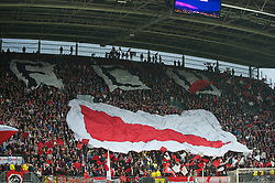 UTRECHT, THE NETHERLANDS - Thursday, September 30, 2010: FC Utrecht's supporters before the UEFA Europa League Group K match against Liverpool at the Stadion Galgenwaard. (Photo by David Rawcliffe/Propaganda)