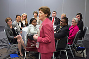 Senator Jeanne Shaheen (D-New Hampshire) speaks at a luncheon hosted by the Democratic Senatorial Campaign Committee during the 2013 Planned Parenthood National Conference in Washington D.C.
