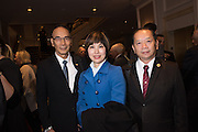 WILLIAM TSENG; LOUISE GREEN TAIWAN; JULIAN T.A. LIN, California State Society Inaugural luncheon. Ritz-Carlton, Washington. DC . 19 January 2017