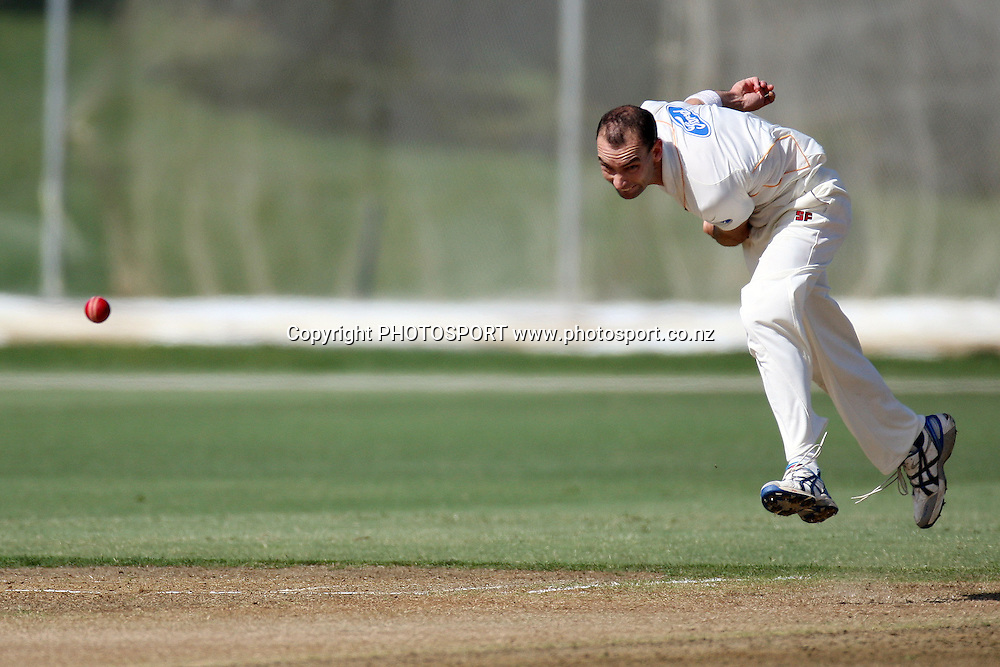 Andy McKay, Plunket Shield, 4 day domestic cricket. Auckland Aces v Wellington Firebirds, Colin Maiden Park, Auckland. 23 March 2011. Photo: William Booth/photosport.co.nz