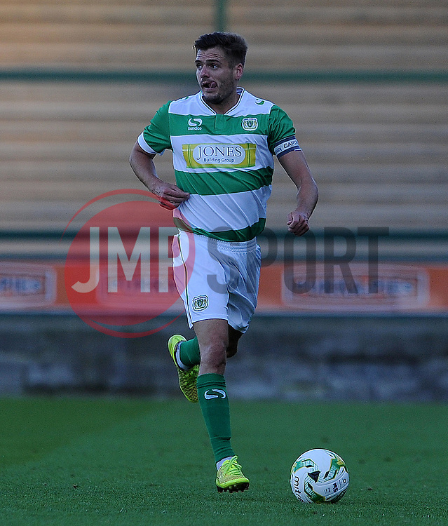 Yeovil Town's Ryan Dickson - Photo mandatory by-line: Harry Trump/JMP - Mobile: 07966 386802 - 28/07/15 - SPORT - FOOTBALL - Pre Season Fixture - Yeovil Town v Bournemouth - Huish Park, Yeovil, England.