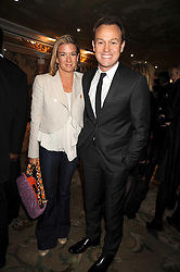 JASON DONOVAN and his partner Angela Malloch, at the 2009 South Bank Show Awards held at The Dorchester, Park Lane, London on 20th January 2009.