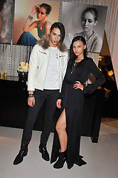 LEAH WELLER and NAT WELLER at the unveiling of the Helena Christensen and Swarovski Crystallized Unsigned Model search winners held at Swarovski Crystallized, 24 Great Marlborough Street, London on 26th January 2012.