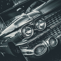 Vintage 1960's classic car in USA