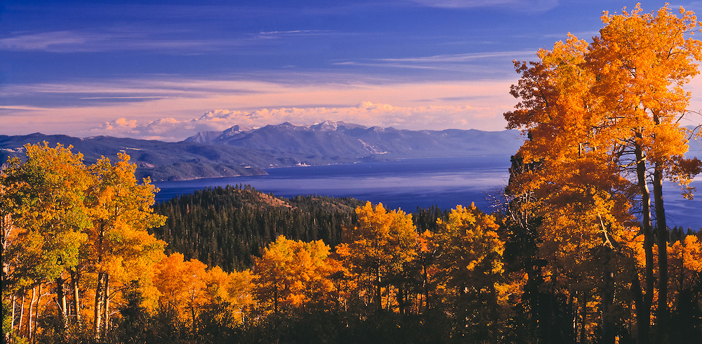 Lake Tahoe Scenic Fall Panorama