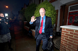 © London News Pictures. 23/10/2012. London, UK.  Director General of the BBC George Entwistle leaving his home in South London on October 23, 2012 before giving  evidence to the Commons Culture Committee on the BBC's response to the Jimmy Savile affair. The BBC has been accused of covering up an under age sex scandal involving presenter Jimmy Savile, who died in 2011. Photo credit: Ben Cawthra/LNP
