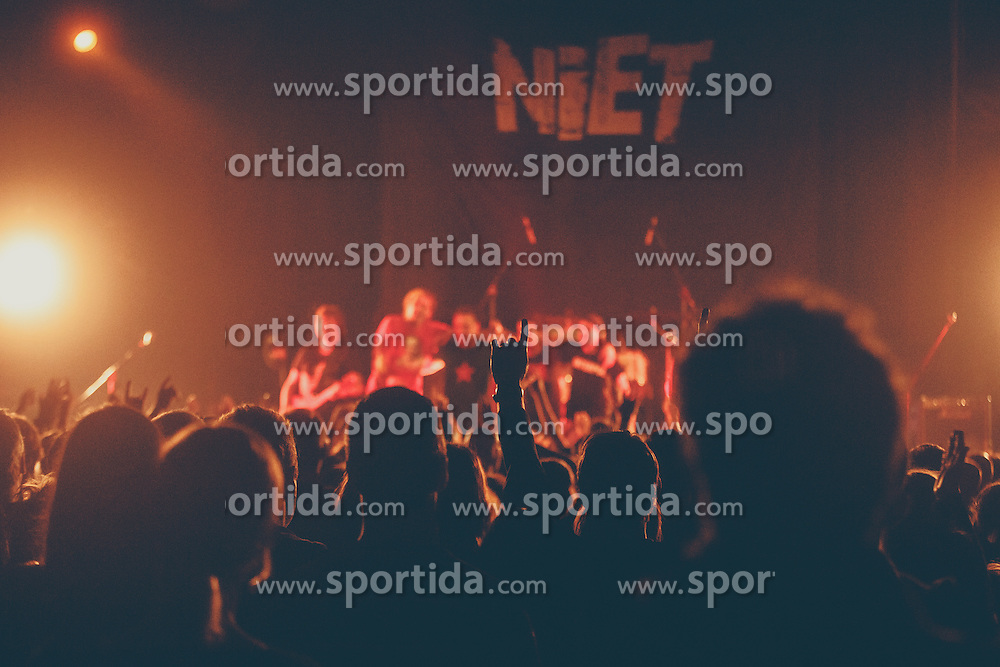 Punk band Niet performs during presentation of their new album in Bazen, Kranj, Slovenia. Photo by Grega Valancic / Sportida
