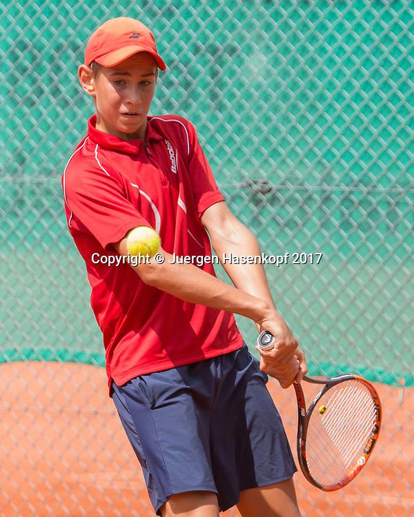 FACUNDO YUNIS (GER) Bavarian Junior Open 2017, Tennis Europe Junior Tour, BS16<br /> <br /> Tennis - Bavarian Junior Open 2017 - Tennis Europe Junior Tour -  SC Eching - Eching - Bayern - Germany  - 9 August 2017. <br /> &copy; Juergen Hasenkopf
