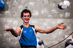 ONDRA Adam of CZE celebrating during Finals IFSC World Cup Competition in sport climbing Kranj 2019, on September 29, 2019 in Arena Zlato polje, Kranj, Slovenia. Photo by Peter Podobnik / Sportida