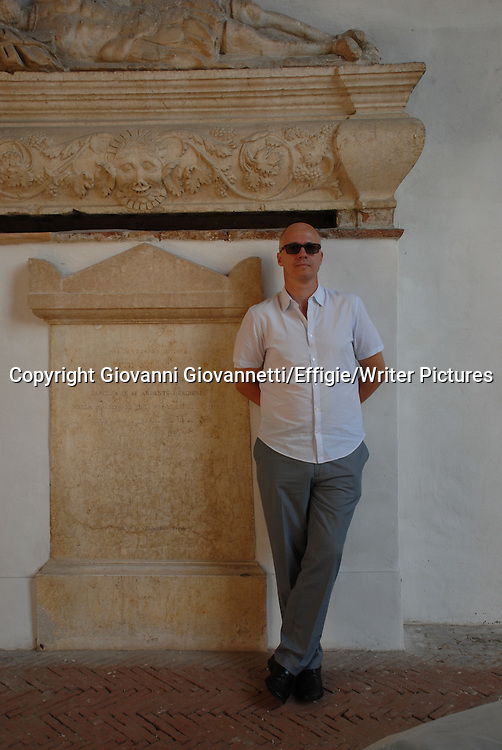 Aleksandar Hemon, Festivaletteratura Mantova, Bosnian American fiction writer, essayist, and critic.<br /> 06 September 2014<br /> <br /> Photograph by Giovanni Giovannetti/Effigie/Writer Pictures <br /> <br /> NO ITALY, NO AGENCY SALES