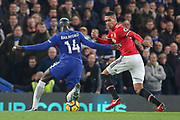 Chelsea's Tiemoue Bakayoko takes on Manchester United Defender Chris Smalling during the Premier League match between Chelsea and Manchester United at Stamford Bridge, London, England on 5 November 2017. Photo by Phil Duncan.