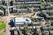 Nederland, Noord-Holland, Amsterdam, 01-08-2016; Concertgebouw aan de Van Baerlestraat, Concertgebouwplein en Jan Willem Brouwersstraat.<br /> Concertgebouw w enevironment.<br /> luchtfoto (toeslag op standard tarieven);<br /> aerial photo (additional fee required);<br /> copyright foto/photo Siebe Swart