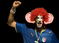 BERNE, SWITZERLAND - JUNE 09: An Italian fan during the Euro 2008 Group C match between Netherlands and Italy at Stade de Suisse Wankdorf on June 9, 2008 in Berne, Switzerland. (Photo by Manuel Queimadelos)