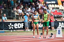 SANTOS Jerusa Guide: SILVA Luiz Henrique, BRA, 200m, T11, 2013 IPC Athletics World Championships, Lyon, France
