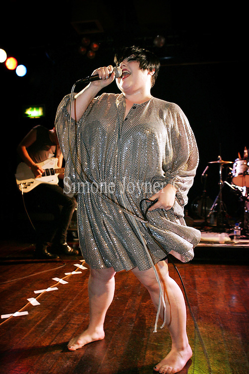 Beth Ditto of the band Gossip performs live on stage at Scala on May 28, 2009 in London, England.  (Photo by Simone Joyner)