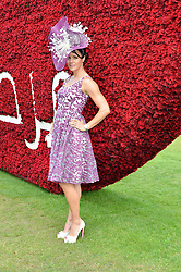 JENNY PACEY at the Qatar Goodwood Festival - Ladies Day held at Goodwood Racecourse, West Sussex on 30th July 2015.