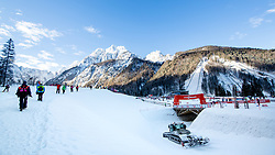 Panoramic view of the course during 1.2 km Sprint Classic race at FIS Cross Country World Cup Planica 2016, on January 20, 2018 at Planica, Slovenia. Photo By Morgan Kristan / Sportida
