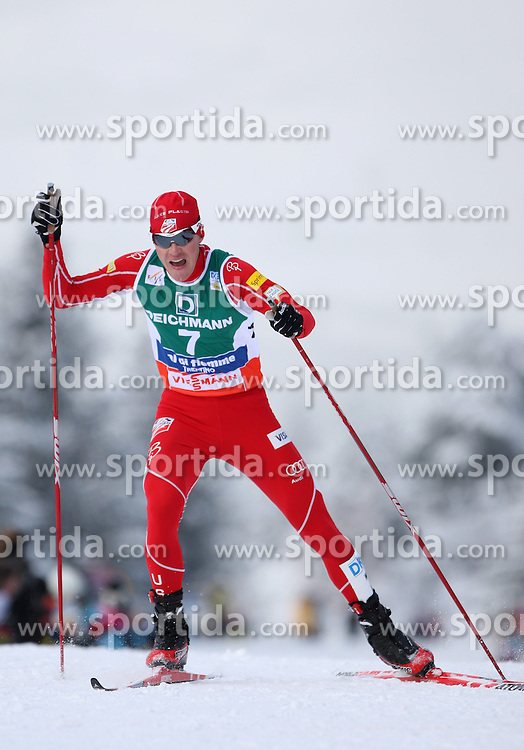 SKI NORDIC COMBINED WORLD CUP 2010..© Pierre Teyssot / Sportida.com..DEMONG Bill during the final climb of Alpe Cermis in Val Di Fiemme, Trentino, Italy, on Sunday January the 10th 2010....