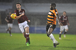 Northamptons Joel Byrom holds of Barnets John Akinde, Northampton Town v Barnet FC, Sixfields Stadium, Sky Bet League Two, Saturday 2nd January 2016, Score 3-0 (Hoskins,Holmes, Richards)