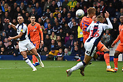 West Bromwich Albion defender Kieran Gibbs (3) shoots at goal during the EFL Sky Bet Championship match between West Bromwich Albion and Millwall at The Hawthorns, West Bromwich, England on 22 September 2018.