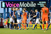 Ipswich Town midfielder Jonathan Douglas is shown the red card for a bad challenge during the Sky Bet Championship match between Birmingham City and Ipswich Town at St Andrews, Birmingham, England on 23 January 2016. Photo by Alan Franklin.