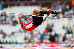 London, August 11 2017 . \\ in the men's decathlon high jump on day eight of the IAAF London 2017 world Championships at the London Stadium. © Paul Davey.