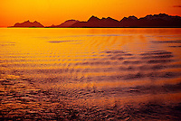 Midnight Sun, Arctic, near Bodo, Northern Norway