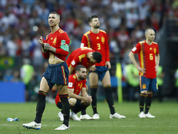 July 1, 2018 - Moscow, Russia - Round of 16 Russia v Spain - FIFA World Cup Russia 2018.Sergio Ramos (Spain) disappointment during the penalties at Luzhniki Stadium in Moscow, Russia on July 1, 2018. (Credit Image: © Matteo Ciambelli/NurPhoto via ZUMA Press)