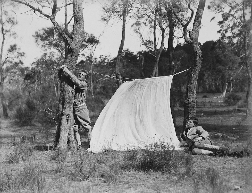 E.O. Hoppé and his son Frank in the Outback, Australia, 1930