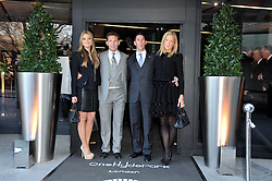 Left to right, HOLLY VALANCE, NICK CANDY, CHRISTIAN CANDY and EMILY CANDY at the launch of One Hyde Park, The Residences at Mandarin Oriental, Knightsbridge, London on 19th January 2011.