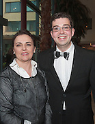 Robyn Cunningham NUIG and Peter Mannion winning Choir Director for NUIG  in the Choir Factor 2014 in the Radisson blu Hotel, Galway in aid of SCCUL Sanctuary at Kilcuan, Clarinbridge . Photo:Andrew Downes.
