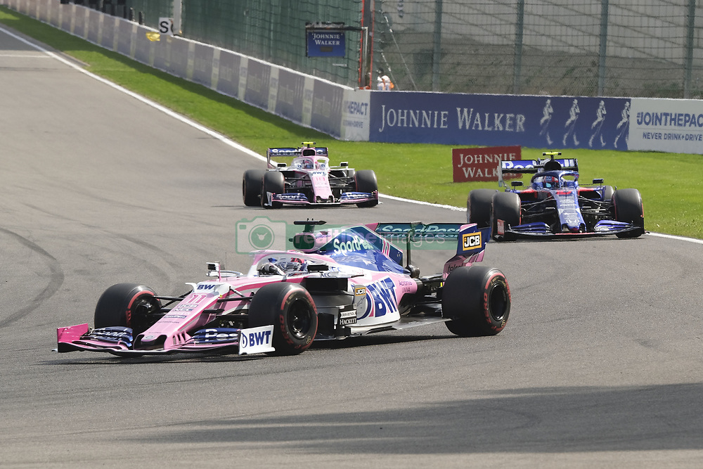 September 1, 2019, Spa Francorchamps, Belgium: Racing Point UK Limited Driver SERGIO PEREZ (MEX) in action during the race of the Formula one Johnnie Walker Belgian Grand Prix at the SPA Francorchamps circuit - Belgium..Charles Leclerc wins his first Formula One Grand Prix (Credit Image: © Pierre Stevenin/ZUMA Wire)